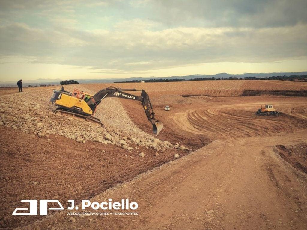 Construcción de pantano